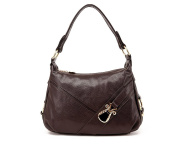 GINSIO Women's Genuine Cow Leather Cross body Vintage Shoulder Travel Tote Bags