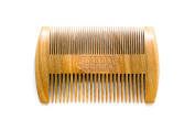Beard Comb - Double-sided Fine and Coarse Teeth - Handmade Sandalwood - Crafted with Love by Bearded Lemon