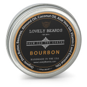 Bourbon Scent - Lovely Beards Natural Beard Balm Leave-in Conditioner & Softener - Handmade In The USA - #1 Rated on Social Media - Best for Groomed Beard Growth, Moustache & Face