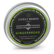 Gingerbread Scent - Lovely Beards Natural Beard Balm Leave-in Conditioner & Softener - Handmade In The USA - #1 Rated on Social Media - Best for Groomed Beard Growth, Moustache & Face