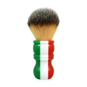 RazoRock Italian Barber Three Colour Plissoft Synthetic Shaving Brush - 24mm