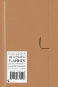Natural Pocket+ Plain & Simple 18 Month Planner 2017