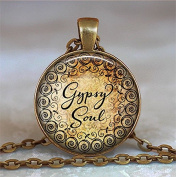 Gypsy Soul necklace, Gypsy Soul pendant, Gypsy necklace, Gypsy pendant, Gypsy jewellery, boho necklace,