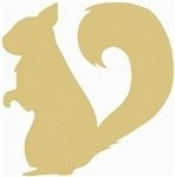 30cm SQUIRREL Cutout Squirrel Unfinished Wood Shape Cutout Variety Sizes USA Made Nature Theme
