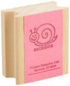 "Centre Enterprise CE647S ""EXCELLENT!-SNAIL"" Wood Stamp, Spanish"