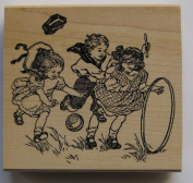 Nature's Blessings Fine Art Stamps, Children Playing 2
