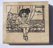 Nature's Blessings Fine Art Stamps, Girl Reading