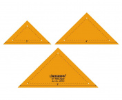 90° Triangle Shape Quilting Patchwork Shape Scale Template Set of 3 Pcs
