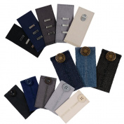 Comfy Pants Bundle - 13 Pant Waist Extenders (3 Types) for Dress Pants, Khakis and Jeans