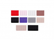 Women Adjust Polyester Bra Clip Extender Straps 3 Rows Assorted Colours Pack of 10