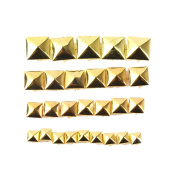 ETOSELL 100Pcs Punk Gold/Silver Pyramid Studs Metal Rivet For Bags Shoes Belt...