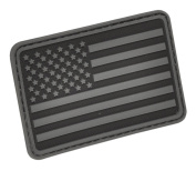 USA Flag (Left Arm) Rubber Hook and loop Patch by Hazard 4