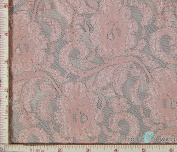 Dusty Pink Flower with Leaf Stretch Lace Fabric 4 Way Stretch Nylon 170cm - 180cm