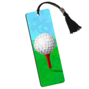 Golf Ball Printed Bookmark with Tassel