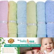 Baby Washcloths | 6 Extra Soft Large Organic Bamboo Baby Shower Ideas
