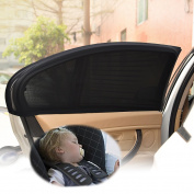 Universal Fit Car Side Window Sun Shade - Protect Your Baby from the Sun and UV Rays - 2 Piece