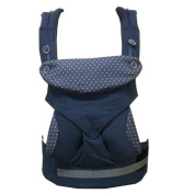 Katyland Baby and Child Carrier 4 Ergonomic Carry Position 360 with Sleeping Hood 100% Organic Cotton Blue