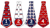 Monthly Baby Boy Baseball Tie Stickers Monthly Tie Stickers MLB Monthly Stickers Boston Red Sox Monthly Tie Stickers Monthly Sports Stickers UNCUT