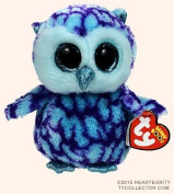 "New TY Beanie Boos Cute OSCAR the Blue & Purple Owl Plush Toys 6"" 15cm Ty Plush Animals Big Eyes Eyed Stuffed Animal Soft Toys for Kids Gifts ..."