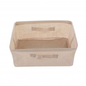 GreenForest Rectangular Home Organising Basket Foldable Canvas Tote Bag