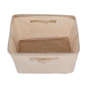 GreenForest Rectangular Home Organising Basket Foldable Canvas Tote Box
