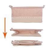 GreenForest Canvas Rectangular Home Organising Basket Foldable Storage Tote Basket Bin, Pink