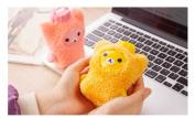 SFamily Cute Bear Mini Plush Hot Water Bottle Warm Handbags Hand Warmer