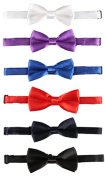 Laribbons Infant Baby Boys Neck Pre-tied Adjustable Bow Tie Pack of 6