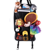 AZLife Durable Foldable Car Backseat Organiser Seat Protector and Kids Toy Storage with Pockets