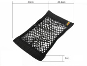 Nylon Car Boot Cargo Net Magic Sticker Luggage Mesh Oganizer Bag,Pocket Bag Double Layer Bag With Adhesive,pack of 1 fit Universal 1 PCS , cargo net stretches superb storage