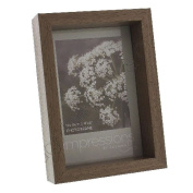 Fun Daisy Walnut Effect Photo Picture Frame 4 X 6 Gift Home Stand Wood Modern Decoration