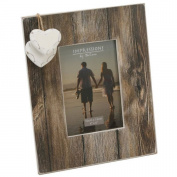 Fun Daisy Wood Photo Picture Frame 10cm X 15cm Gift Stand Home Modern Hearts Present Decor