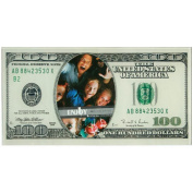 Fun Daisy 100 Dollar Bill Note Money Glass Picture Photo Frame Novelty Home Stand $