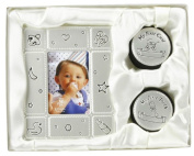 Fun Daisy Baby Photo Frame & My First Curl Tooth Box Gift Set Birth Shower Christening
