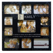 Fun Daisy Family 11 Photo Picture Frame Collage Stamp Keepsake Memories Sentiment Gift