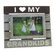 Fun Daisy Grandkids Photo Frame Picture Cutout Stand Hanging Wooden 15cm X 10cm Wall Mantle