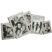 Fun Daisy Multi Photo Picture Frame Nickel Plated Stand Silver Home Gift Family Memories