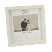 Fun Daisy Wedding Photo Picture Frame With Printed Data Anniversary Rings Home Stand Gift