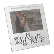 Fun Daisy Mr & Mrs Wedding Photo Picture Frame 3D Anniversary Gift Present Message Day