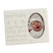 Fun Daisy Our Baby Photo Picture Frame Christening Boy Girl Gift Present Born Message