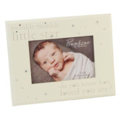 Fun Daisy Twinkle Twinkle Baby Photo Picture Frame Crystals Wood Stand Gift Born 6 X 4