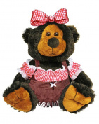 Giftable World Plush Hillbilly Girl Bear Super Soft Stuffed Toy 25cm
