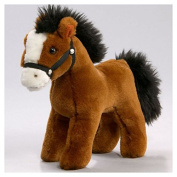 Soft Toy Horse standing red-brown 17cm. [Toy]