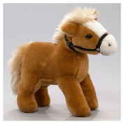 Soft Toy Horse standing beige 17cm. [Toy]