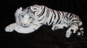 White Tiger XXL Plush Soft Toy Cuddly Toy Soft Animal Big Cat White 85 cm Soft Toy