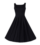 Dressystar Vintage Dresses 1950's Retro Party Swing Dress Hepburn Style Dresses Two Styles