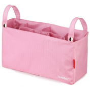 Multifunctional Baby Nappy Bags Organiser changing Bags for Strollers Pink