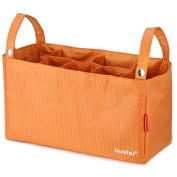 Multifunctional Baby Nappy Bags Organiser changing Bags for Strollers orange