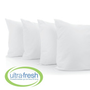 ROHI UltraFresh Anti-bacterial 4-Pack Bed Pillows, Standard Size, White