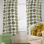 Children's Polycotton Tape Top Ready Made Curtain Pair - Camoufalge